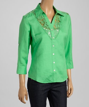 Cloverleaf Lace Button-Up - Women & Plus