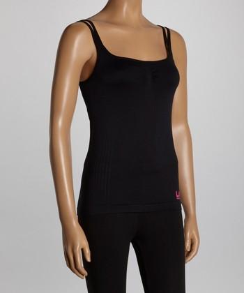 LA Gear Black Shelf-Bra Camisole - Women