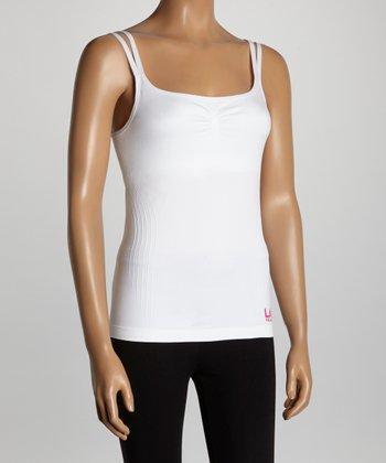 LA Gear White Shelf-Bra Camisole - Women