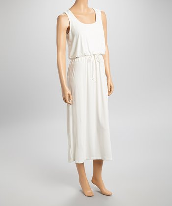 Shelby & Palmer Ivory Blouson Sleeveless Dress