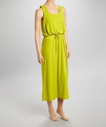 Shelby & Palmer Citron Blouson Sleeveless Dress