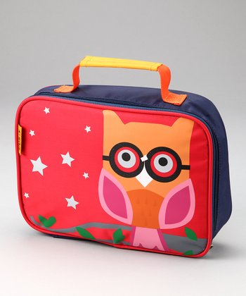 Orange Owl Lunch Bag