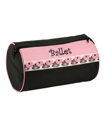Pink & Black 'Ballet' Reversible Dance Duffel Bag