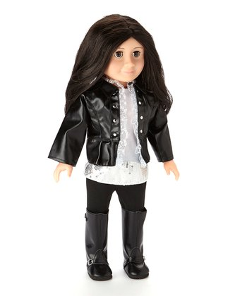 Black & Silver Superstar Doll Outfit Set
