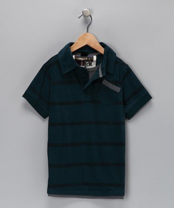 Blue Layered Polo - Toddler & Boys