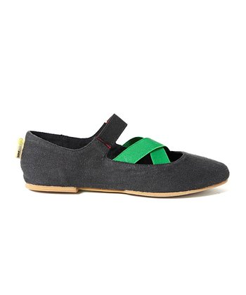 Black & Green Kahya Slip-On Shoe - Women