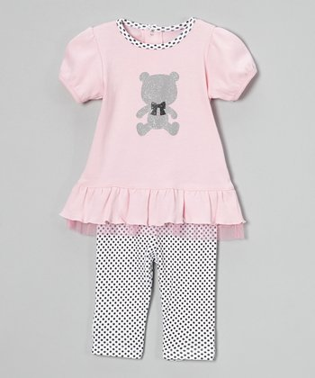 Pink Bear Tunic & Leggings - Infant