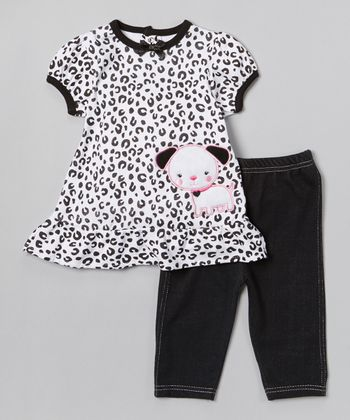 Black Leopard Tunic & Leggings - Infant