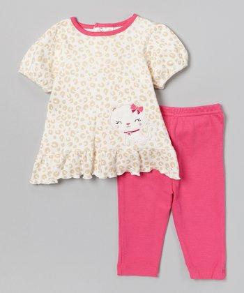 Pink Leopard Tunic & Leggings - Infant