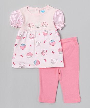 Pink Cupcake Tunic & Leggings - Infant