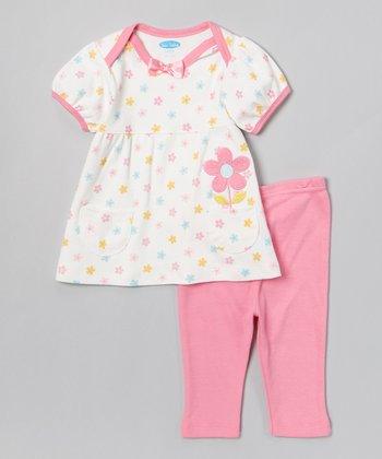 Pink Floral Tunic & Leggings - Infant