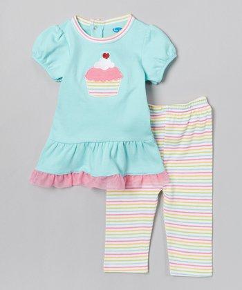 Blue & Pink Cupcake Tunic & Leggings - Infant
