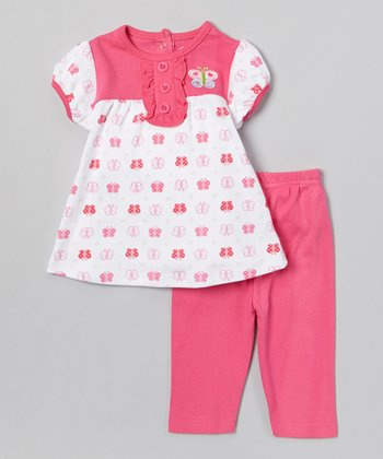 Pink Butterfly Tunic & Leggings - Infant