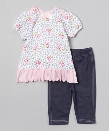 Pink Rose Leopard Tunic & Leggings - Infant