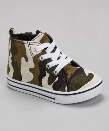 Rockland Footwear Green Army Hi-Top Sneaker