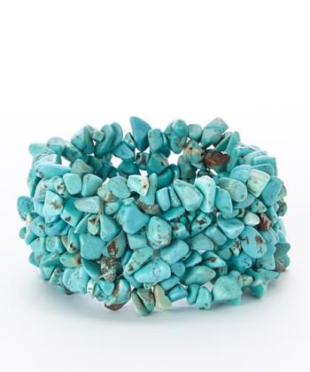 Turquoise Stone Confetti Stretch Bracelet