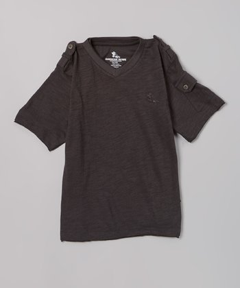Charcoal Pocket Sleeve Tee - Boys