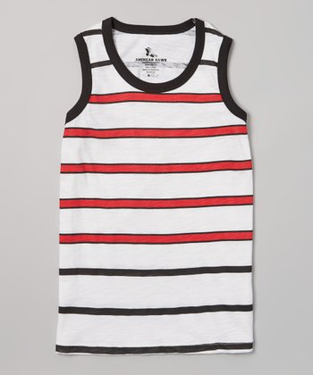 Red Stripe Tank - Boys