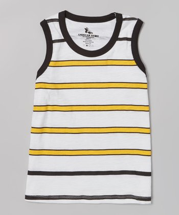 Gold Stripe Tank - Boys