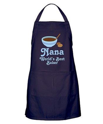 Navy Nana 'World's Best Baker' Apron - Women