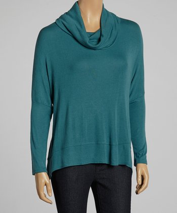 Peacock Cowl Neck Top