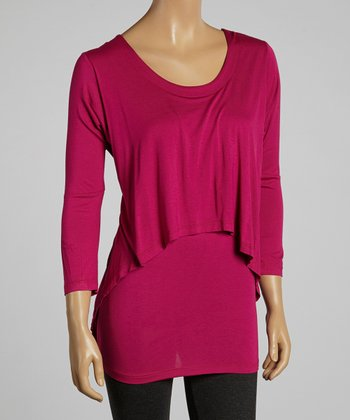 Fuchsia Hi-Low Layered Top