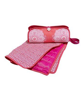 Masala Baby Pink Kolam Diaper Clutch & Changing Pad