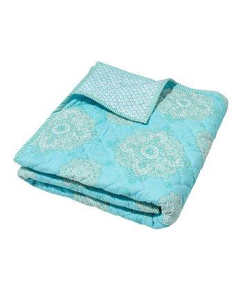 Masala Baby Turquoise Kolam Moksha Quilt
