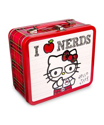 Red Hello Kitty 'I Love Nerds' Lunch Box