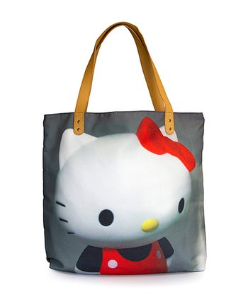 White & Gray Hello Kitty Photo Tote