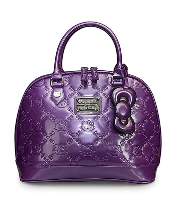 Purple Hello Kitty Embossed Tote