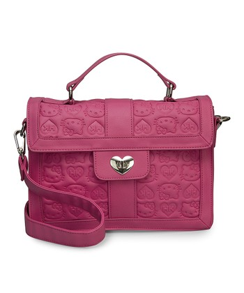 Pink Hello Kitty Embossed Satchel