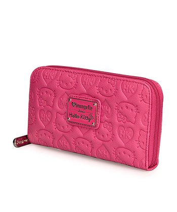 Pink Hello Kitty Embossed Wallet
