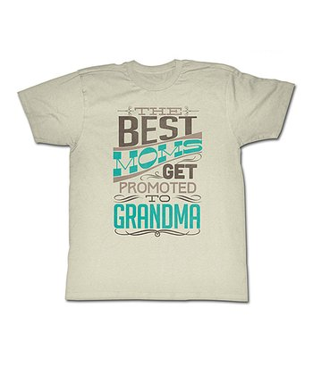 Vintage White 'Best Moms Get Promoted to Grandma' Tee - Women