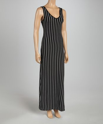 Black & White Pin Stripe Maxi Dress