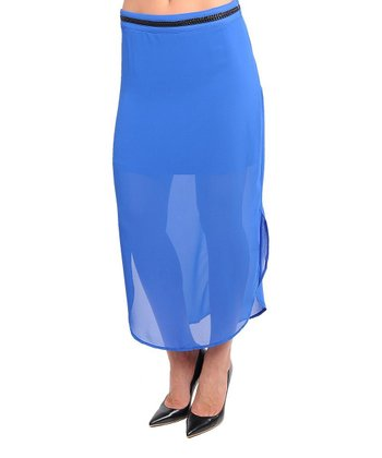 Blue Sheer Maxi Skirt