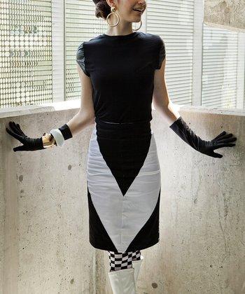 Black & White Mod Maven Pencil Skirt