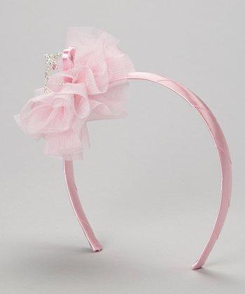 Light Pink Flower & Heart Headband