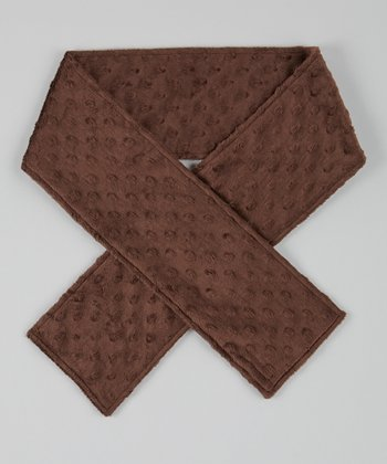Chocolate Brown Velour Scarf