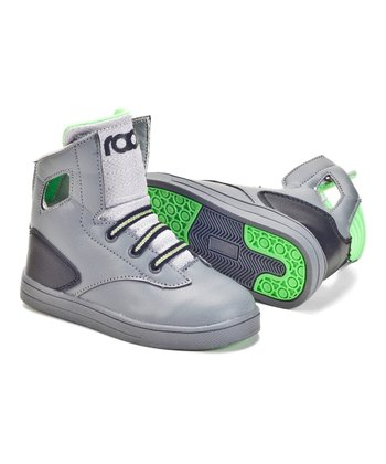 Charcoal & Lime Noble Hi-Top Sneaker