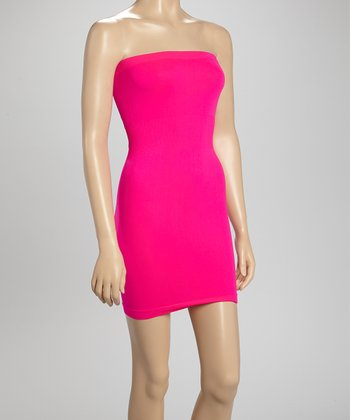 Hot Pink Seamless Strapless Shaper Slip - Women