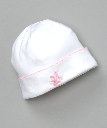 White Fly Butterfly Beanie