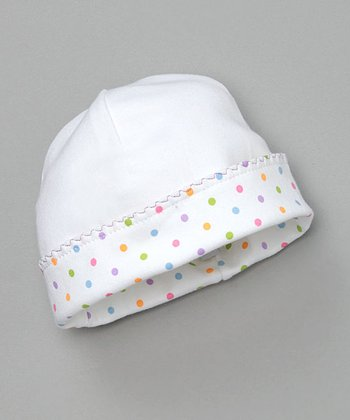 Rainbow Polka Dot Beanie - Infant