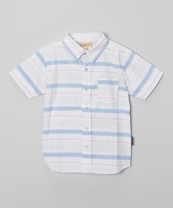 Silver Gray Stripe Button-Up - Boys