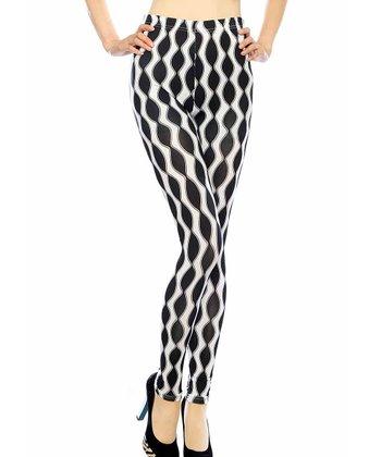 Black & White Mod Seamless Leggings