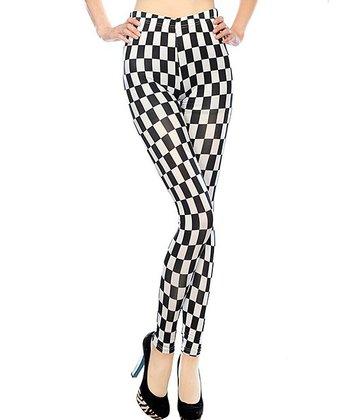 Black & White Checker Seamless Leggings
