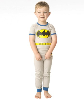 Gray & Blue Batman Character Pajama Set - Infant & Toddler