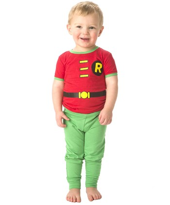 Red & Green Robin Character Pajama Set - Infant & Toddler