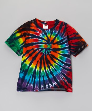 Rainbow Night Sky Tie-Dye Tee - Toddler & Kids