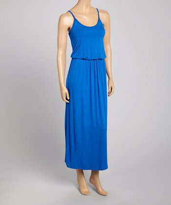 Royal Blue Blouson Sleeveless Dress